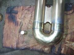 トランペットの3番抜差し管の軽量化